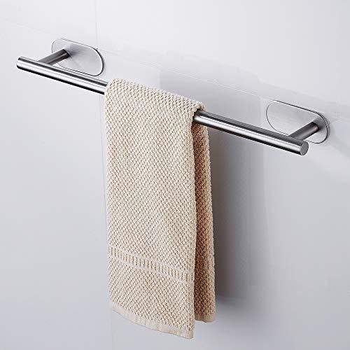 Wellbeingjp_JPタオルバー 収納ラック タオル掛け ステンレス3Mのコロイド用、粘着性 お風呂場 キッチン 洗面所用 50CM