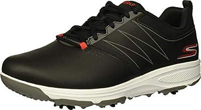 Skechers GO GOLF mens Torque Golf Shoe, Black/Red, 10.5 US