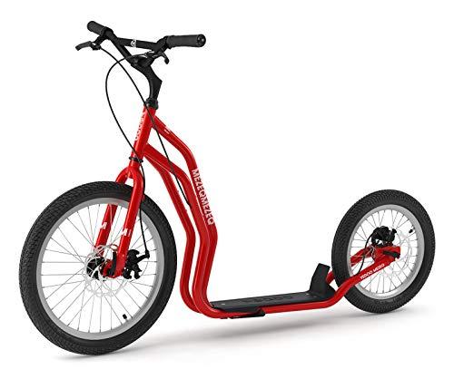 Mezeq RunRun Yedoo Scooter Tretroller 20/16 Zoll Cityroller Offroad-Reifen rot für Erwachsene und Jugendliche