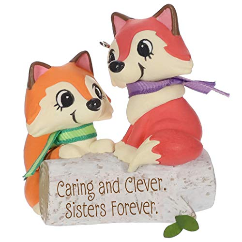 Hallmark Keepsake Christmas Ornament 2019 Year Dated Clever Sisters Foxes