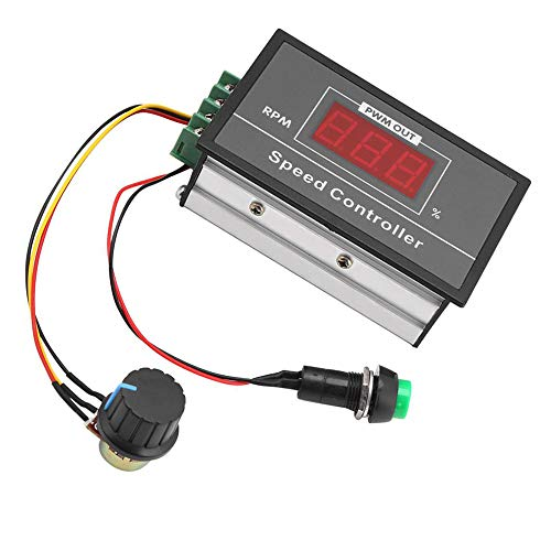 Interruptor Regulador De La Velocidad Del Motor De Corriente Continua Controlador De Motor De Alta Potencia Pwm 6-60V Reversible 12V 24V 48V 36V Regulador De Voltaje Atenuador