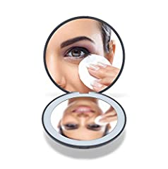 NATURAL DAYLIGHT - Using closely simulates natural sunlight LED light to provide you with perfect viewing while applying makeup. 1X & 10X MAGNIFICATION - Dual mirror with regular/magnifying power, you can see yourself clearly and it is great for masc...