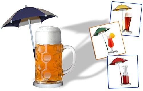 Bierscherm/cocktailparaplu/paraplu/drankparaplu - groen set van 5