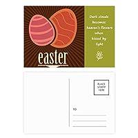 イースター祭赤卵パターン 詩のポストカードセットサンクスカード郵送側20個