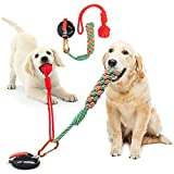 Dog Chew Toys with 200lb Strong Suction Cup Chewing Toy for Aggressive Chewers Multifunction Interactive Set, Rope Ball Chewing Set Teeth Cleaning for Large Dogs