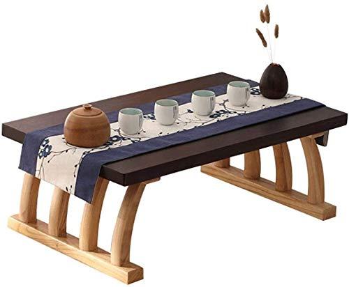 Mesa de café, una pequeña sala de estar, mesa de centro fijo japonesa, mesa de casa baja, mesa lateral exterior,A50x40x30cm