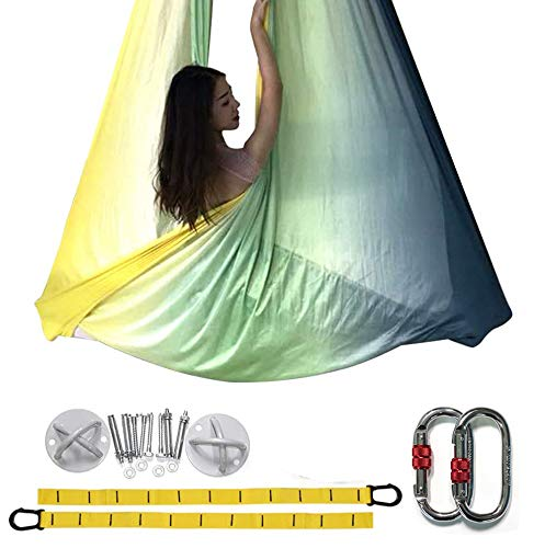 E-Bestar Premium Aerial Silks Equipment Aerial Yoga Hammock Set Aerial Silk Yoga Set Safe...