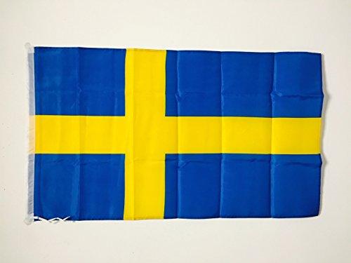 AZ FLAG Flagge SCHWEDEN 90x60cm - SCHWEDISCHE Fahne 60 x 90 cm Scheide für Mast - freiner Polyester flaggen