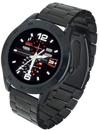 Garett Electronics Stahl GT22S Smartwatch, schwarz, 5903246285161