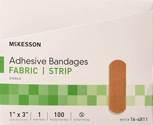 McKesson Performance Bandage Adhesive Fabric Strip, 100 Count (Pack of 2)