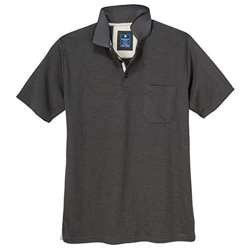 Redmond 'Wash & Wear' XXL Poloshirt anthrazit Melange, Größe:6XL