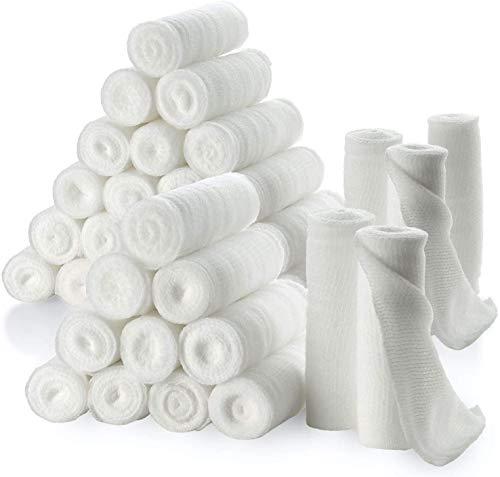 """Rotoli di benda di garza - confezione o 36, 3"""" x 4,1metri per rotolo di benda di garza di grado medico e bendaggio estensibile per medicazione di tutti i tipi di ferite kit di pronto soccorso di MEDca"""