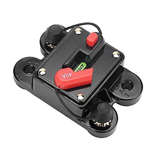 Selbstleistungsschalter Suuonee, Auto-Selbstaudio-Handbuch-Zurückstellen-Sicherungshalter-Leistungsschalter 12V 40A