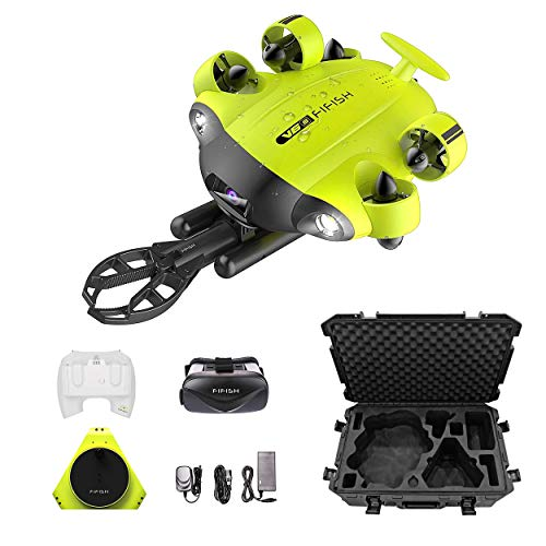 QYSEA FIFISH V6s in Industrial Case Underwater Drone with 4K UHD Camera, 4000lm LED, VR Headset, APP...