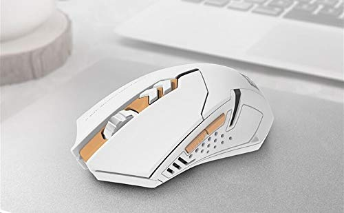 Gaming Mouse WWY 2.4G Wireless Portable Mobile Mouse Optical Mice with USB Receiver, 5 Adjustable DPI Levels, Silent mouse,7 Buttons for Notebook, PC, Macbook (Color : White)