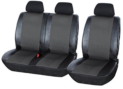 eSituro SCSC0127 universal Sitzbezug Sitzbezüge für Auto Transporter 1+2 Schonbezug Schoner schwarz grau
