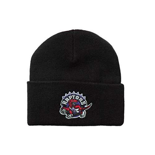 Mitchell & Ness Toropnto Raptors INTL534 Team Logo Cuff Knit Black NBA...