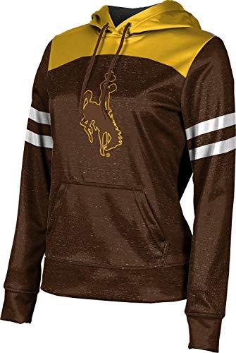 ProSphere University of Wyoming Women's Pullover Hoodie, School Spirit Sweatshirt (Gameday) E1E05196 Brown and Gold