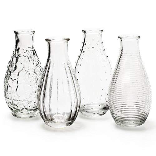 12 x Vasen in vielen Farben und Formen Dekovase - Glasvase - Väschen Größe Decor H 14 cm