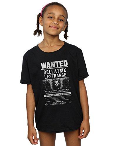 HARRY POTTER niñas Bellatrix Lestrange Wanted Camiseta 7-8 Years Negro