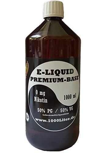 E Liquid Base 1L PUR Vape OHNE Nikotin 0 1000 ml 50 PG/50 VG