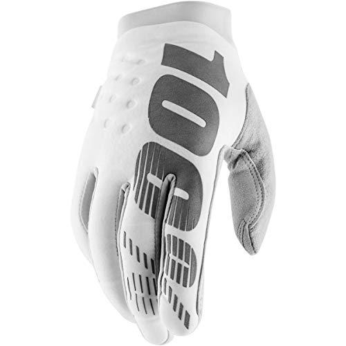 100% Erwachsene Brisker Handschuhe, weiß / silber, L