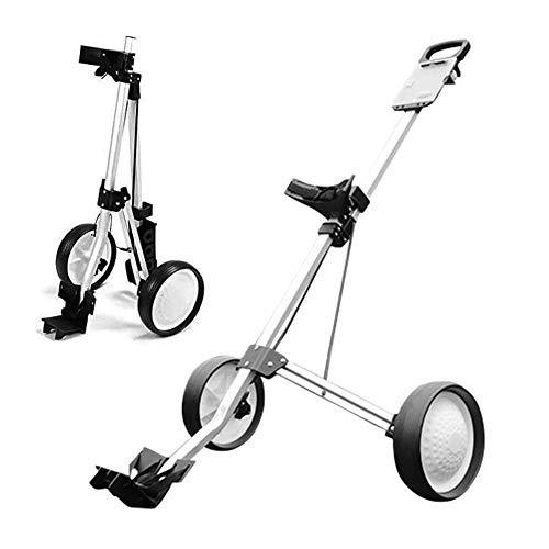 ZTGHS Zusammenklappbarer Push-Pull-Golfwagen, Leichter 2 Rad Golfwagen Für Golftasche Flughafengepäckträgerwagen Golfwagen Mit Scorecard