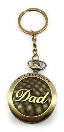 Key Era Designer Pocket Watch DAD Metal Keychain/Keyring Friendship, Valentine, Birthday Gift (Bronze)