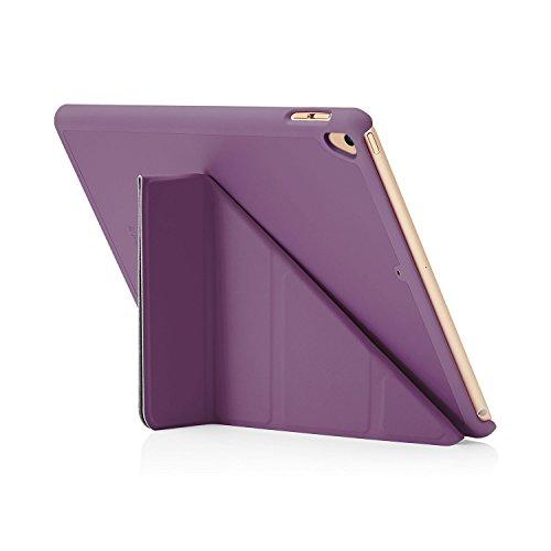 Pipetto iPad 9.7 6th/5th Generation 2018/2017 Origami Cover Case with Auto Wake/Sleep - Purple