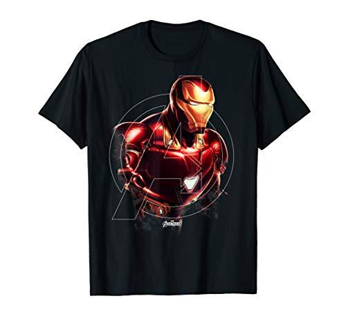 Marvel Avengers Endgame Iron Man Portrait Graphic T-Shirt T-Shirt