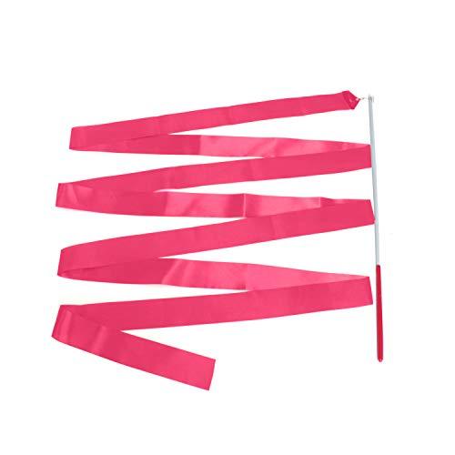 Trimming Shop Gimnasias Rítmicas Rosa Fucsia Cinta con un Twirling Baile Bastón Caña - 4M