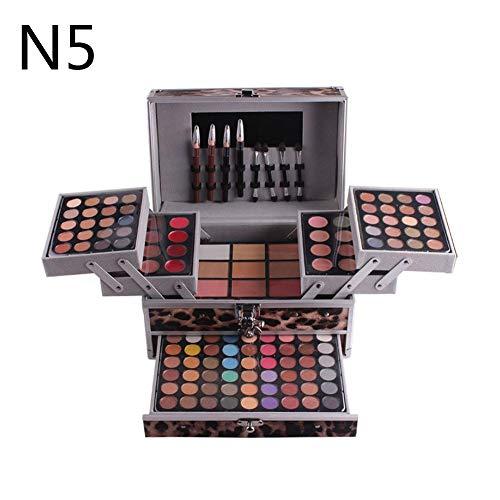 ZJHHH Trois Couches Costume Polyvalent Maquillage Beauty Box Box Grande mémoire -pour Fard à paupières + Blush + Poudre + Poudre pressée Sourcils