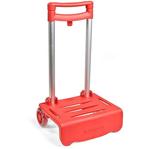 Busquets - Carro Portamochilas Plegable, color Rojo
