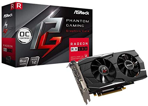 ASRock Phantom Gaming D Radeon RX580 8G OC Grafikkarte, VR-Ready, schwarz