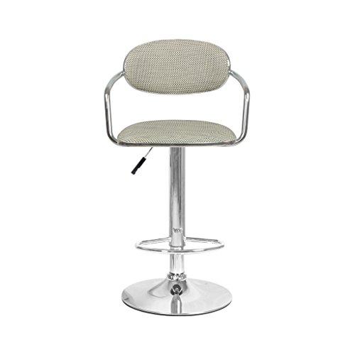 Tu-Chairs NAUY @ Arte Bar Taburete Rattan Weave Asientos, Bar Silla Respaldo Altura Ajustable Spin Coffee Shop Restaurante Silla Beige Marrón sillas y taburetes (Color : B)