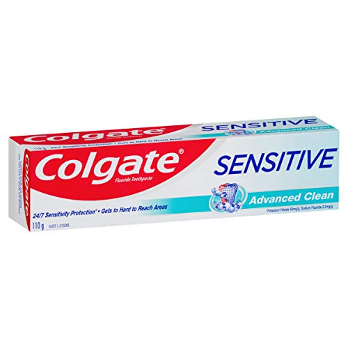 Colgate Sensitive Advanced Clean Toothpaste, 110g, For Sensitive Teeth Pain Relief