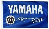 WHGJ Car Flag 3x5 ft for Yamaha Racing Flag Motorcycle Huge Garage Decor Banner