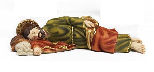 Paben - Estatua de San José durmiendo, artículo religioso 19,5 cm, d