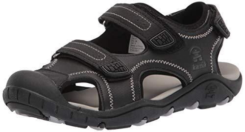 Kamik Unisex-Jungen Seaturtle2 Geschlossene Sandalen, BLACK, 35 EU