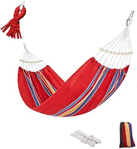 XUHRA Gestreifte Holzstab Hammock, tragende 550lbs für Heim,Red