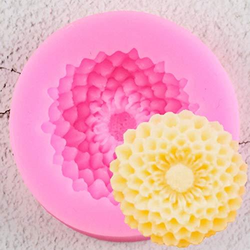 YTYASO Moldes de Silicona de Flores 3D Fondant Craft Cake Candy ChocolateHielo Pastelería Herramienta para Hornear Molde Accesorios de Cocina