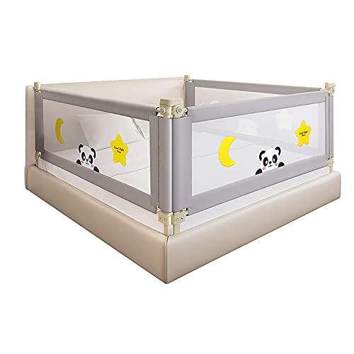 Lattice del letto per 180 cm, griglia del letto portatile per bambini con doppio fibbia a doppia fibbia Bambino recinzione per bambini letto per materasso a grandezza naturale 24 ingranaggi regolabili