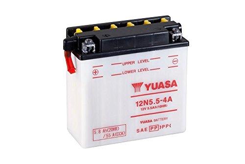Batterie YUASA 12N5.5-4A, 12V/5,5AH (Maße: 138x61x131) für Yamaha WR125 R Baujahr 2015
