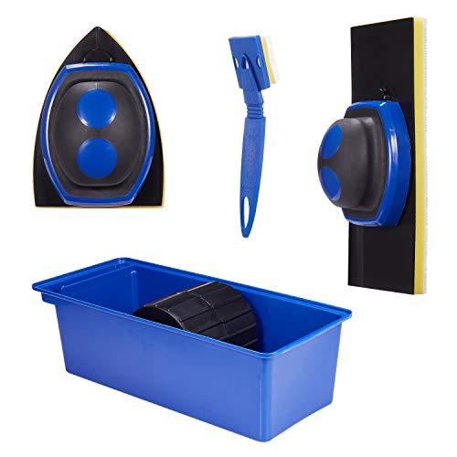 YUKAKI Paint Pad Set, präziser, Malwerkzeug, mit Farbwanne, Farbkanter und Eckenschneider, Deck Stain Pad, Farbroller