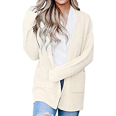 Amazon - Save 30%: Vdnerjg Women's Long Sleeve Open Front Cardigans Waffle Knit Sw…