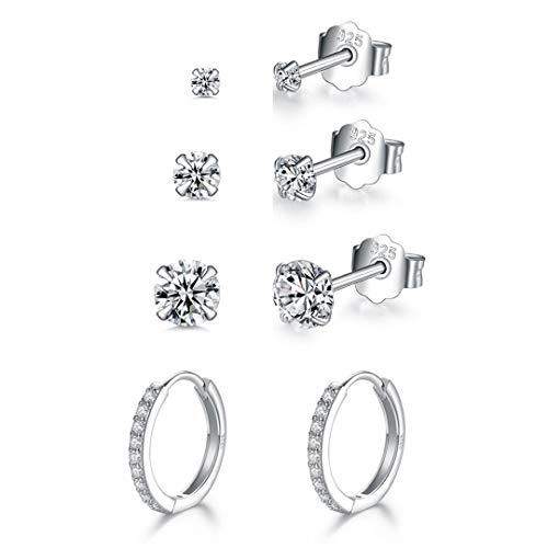 925 Sterling Silver Stud Earring...