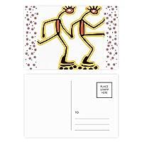 エジプトのフィギアローラースケートのパターン クリスマスの花葉書を20枚祝福する