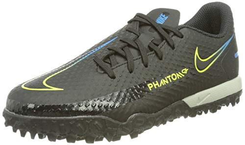 Nike Jr. Phantom GT Academy TF Football Shoe, Black/Black-Cyber-Light Photo Blue, 37.5 EU
