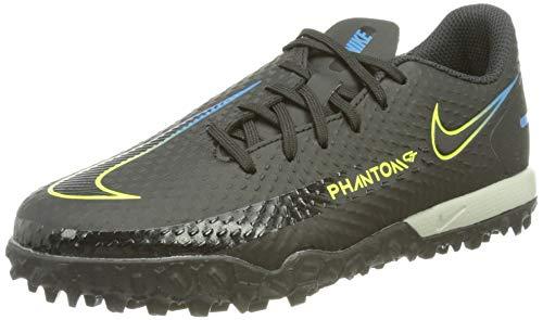 Nike JR Phantom GT Academy TF, Zapatillas de ftbol, Black Black Cyber Lt Photo Blue, 35 EU