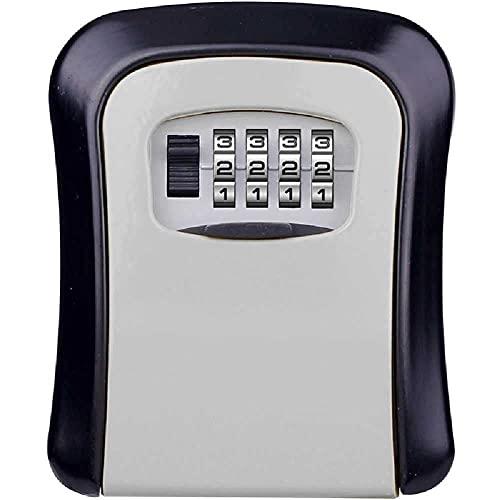 Caja de llave Caja de seguridad Caja de pared pequeña Montado en la pared Caja segura a prueba de intemperie 4 Dígitos Combinación Caja de almacenamiento Caja de almacenamiento Hogar Sistema de seguri